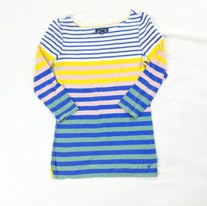 American Eagle Colorblock Stripe Top